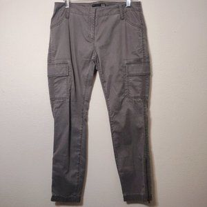 Eileen Fisher Gray Utility Cargo Jogger Pants 2P